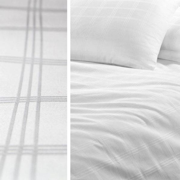Karo Serie, White Bed Linen Karo Serie, Weiße Bettwäsche