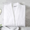 Bathrobe with kimono collar white color comfort soft high quality obertex turkish production white color