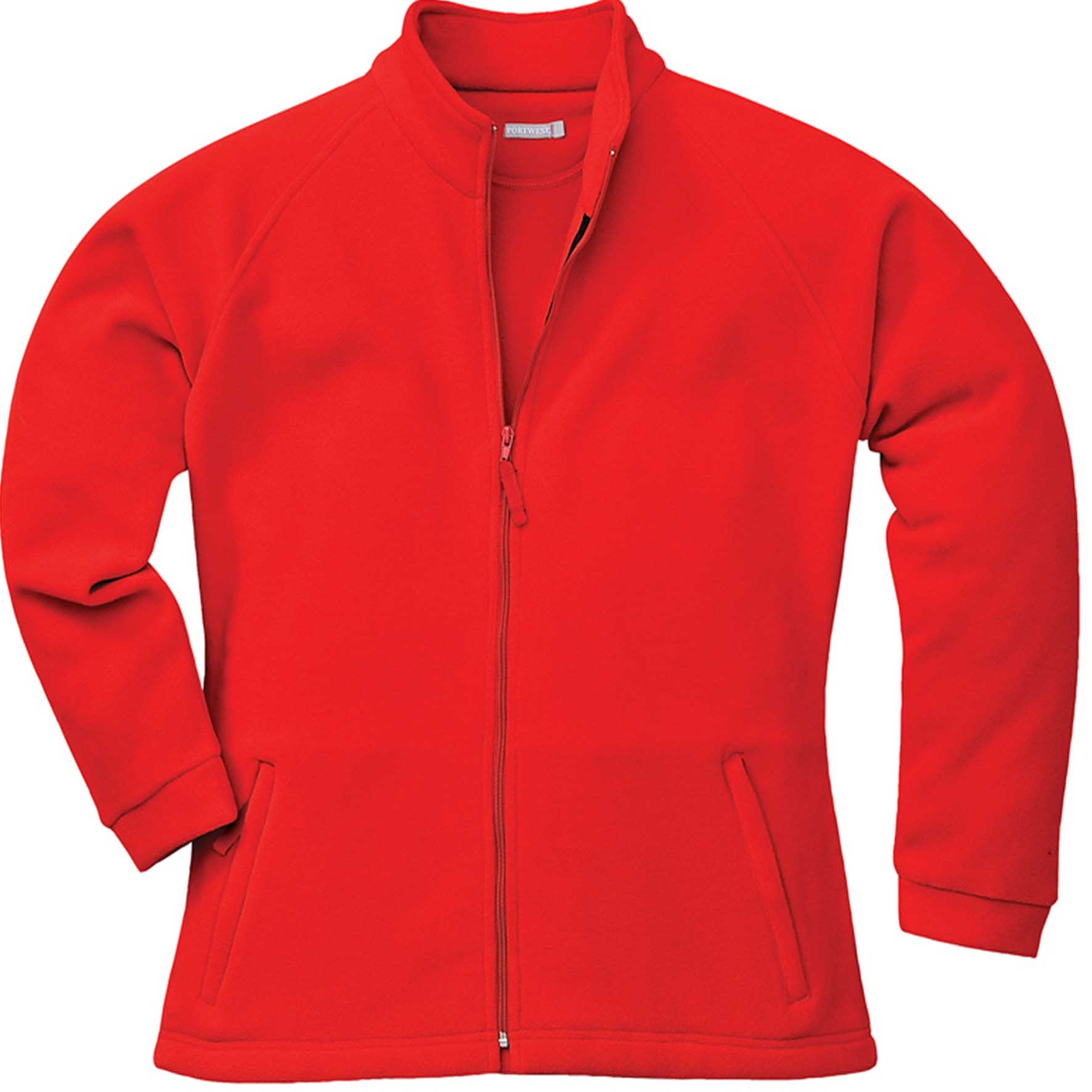 Damen Microfleece Jacke, schwarz