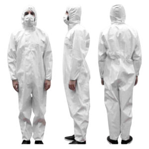 Weiß Isolation Coverall Anzug
